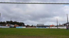 Campo do Avaí, no Portinho, recebe partida de abertura: jogo marca reinício do futebol amador após dois anos. Foto: André Luiz/Agora Laguna