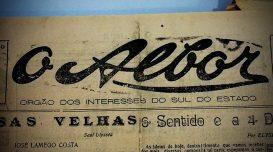 Jornal O Albor, em 1933. Foto: Luís Claudio Abreu/Agora Laguna