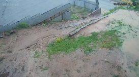 muro caindo morro grande