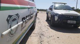 Homens foram mortos no acesso à Praia do Sol. Foto: Luís Claudio Abreu/Agora Laguna